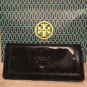 Tory Burch Navy patent clutch/wallet
