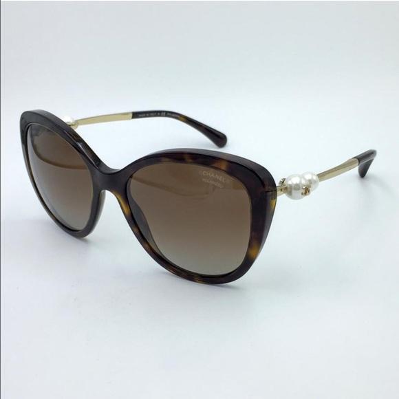 c95455e5ad3b CHANEL Accessories - Chanel Polarized Tortoise Pearl Sunglasses