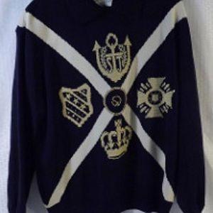 St. John Sportswear Dark Blue Sweater