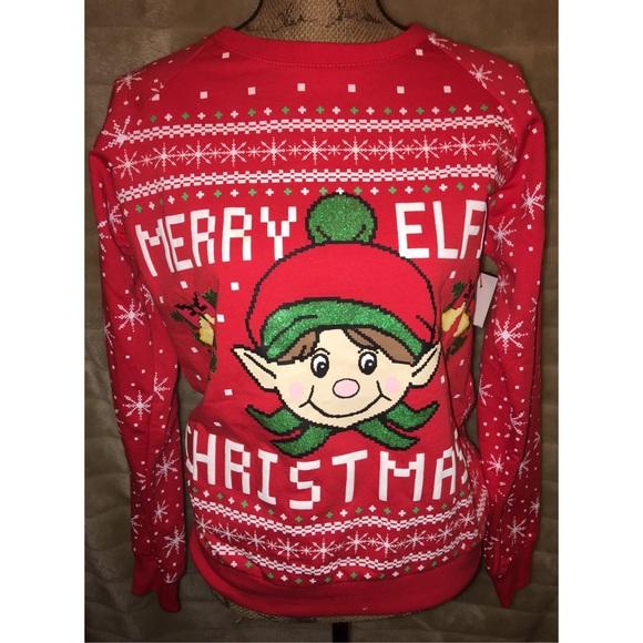 Sweaters Ugly Christmas Sweater Merry Elfin Christmas Nwt Poshmark