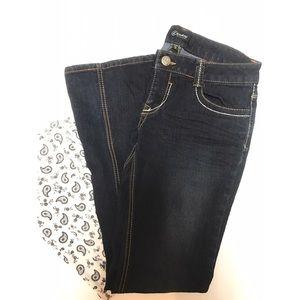 Rewash Denim - Dark Rewash Boot Cut Jeans
