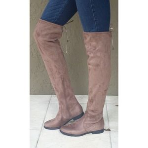 Shoes - *only 1 left* Thigh High Boots (taupe)
