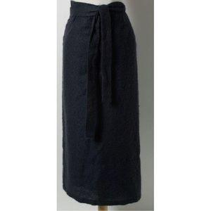 MaxMara Mohair Double Wrap Sarong Skirt