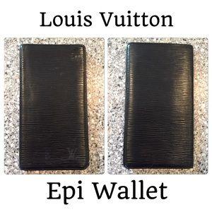 Louis Vuitton Epi Checkbook Wallet