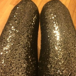Pants - High Waist Sequin Leggings