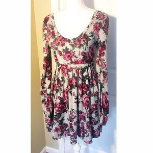 Dresses & Skirts - SOLD NWOT gray & floral dress