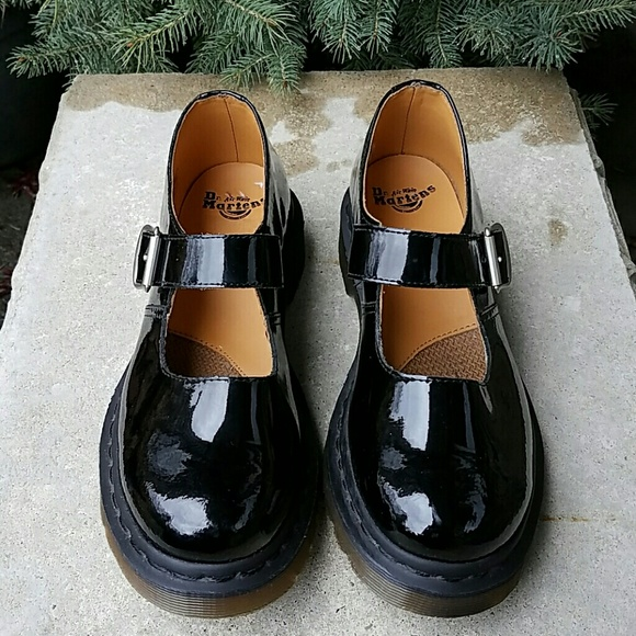 Dr. Martens patent leather Mary Jane shoes