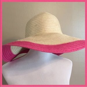 Stylish Pink Sun Hat Fit For a Fashionista, NWOT