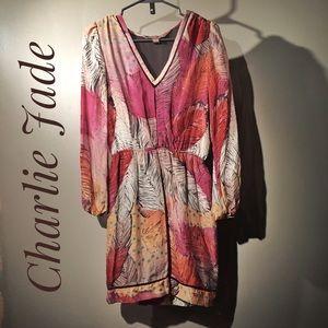 Charlie Jade long-sleeved botanical print dress
