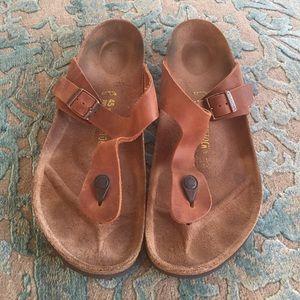 Birkenstock Other - Birkenstock Leather Slides Sandals size 45 or 12