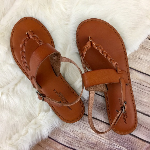9891ddf69 American Eagle Outfitters Shoes - American Eagle Leather Braided Thong  Sandal