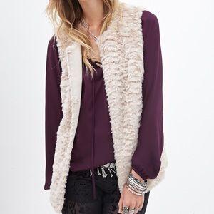 Forever 21 Faux Fur Sleeveless Vest