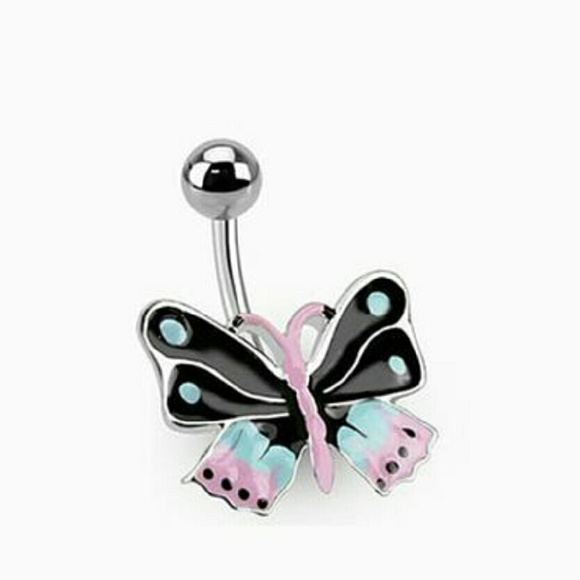 jewelry butterfly belly button ring poshmark