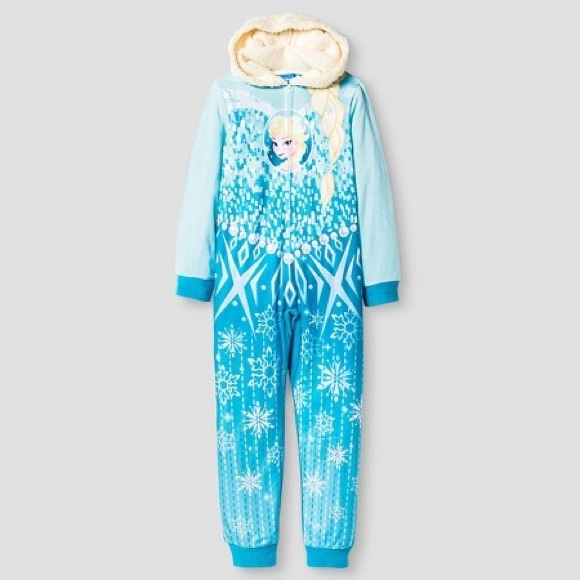 6da9af087d Disney Frozen Princess Elsa    Anna Girls Blanket Sleeper Pajamas