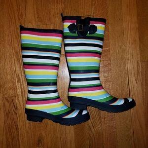 Bp striped rain boots