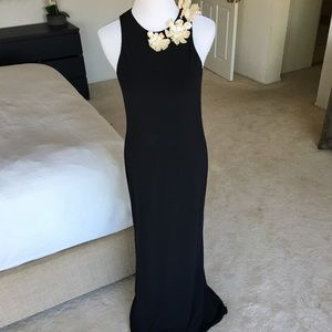 "Vera Wang ""Lavender Label"" Black Formal Dress"