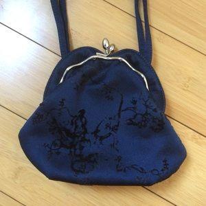 Philosophy di Alberta Ferretti Handbags - Navy Blue Evening Handbag