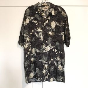 Topman Other - Men's Tropical Print Sleeve Button Up Shirt