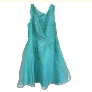 Teal organza dress