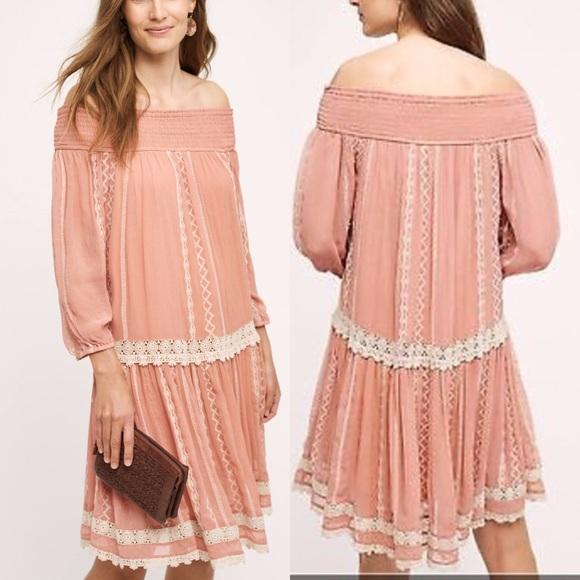 Anthropologie Dresses - Anthropologie Off Shoulder Dress