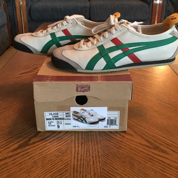onitsuka tiger mexico 66 beige green red green