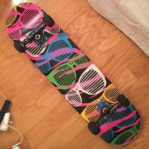 Other - Bright Sunglass pattern Skateboard