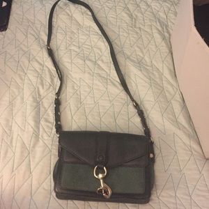 Rebecca Minkoff leather and suede crossbody bag.