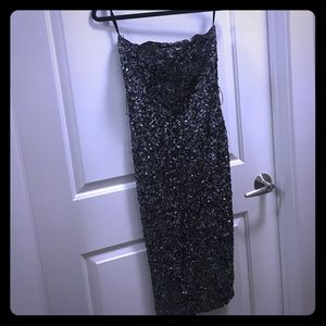 French Connection - Strapless Sequin Dress