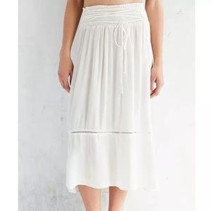 NWT Small Urban Outfitters Cream Midi Skirt