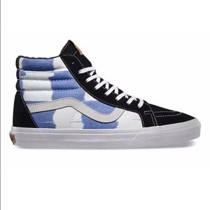 New vans sk8 hi top shoes sneakers blue and ivory