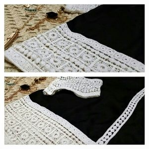 Zeagoo Tops - Boho Crochet Detail Blouse