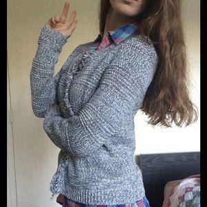 LOFT Sweaters - SALE‼️Ann Taylor String Fringe Knit Cardi