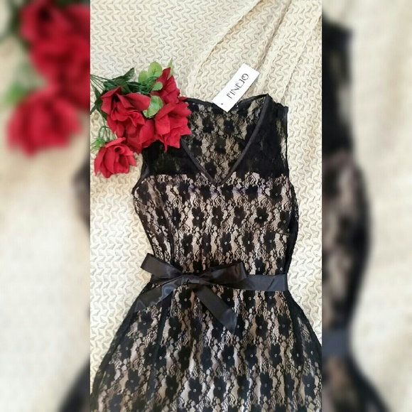 Silk and Lace-Overlay Dress