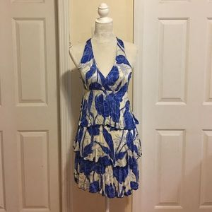 NWOT Gabriella Rocha Print Halter Dress.