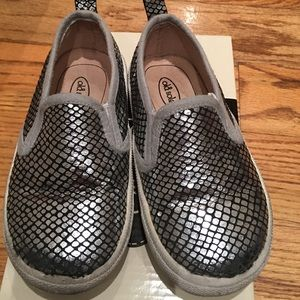 Old Soles Other - Old Soles silver leather slip ons toddler size 9.5