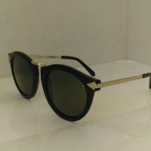 Karen Walker Accessories - Karen Walker black and gold Harvest sunglasses