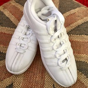 K-Swiss Shoes - K-Swiss Ladies White Leather Tennis Shoes NWOT