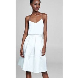Express Dresses & Skirts - EXPRESS- High Waisted Textured Full Midi Skirt.