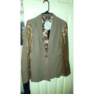 Cecico Jackets & Blazers - Shop Hope's Brown Sequined Blazer (L)