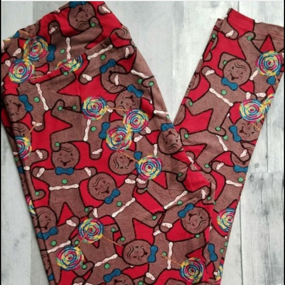 15fd15bb5b4eb8 LuLaRoe Pants | Christmas Leggings Gingerbread Men | Poshmark