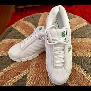 K-Swiss Shoes - K-Swiss Retired Pink and Green Tennis Shoes NWOT