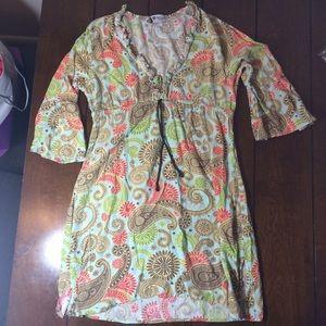 Mud Pie Dresses & Skirts - Mud pie bag lady dress/cover up