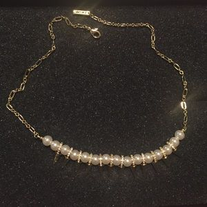 Jewelmint gold, sparkle, and pearl necklace
