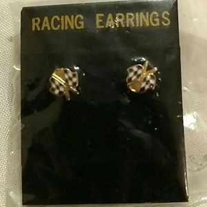 Jewelry - Checkered flag earrings
