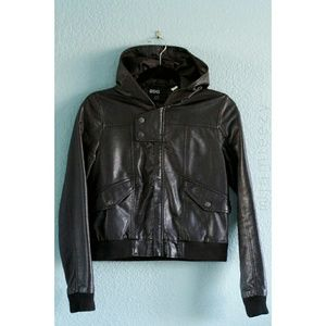 BDG | Faux Leather Hooded Jacket
