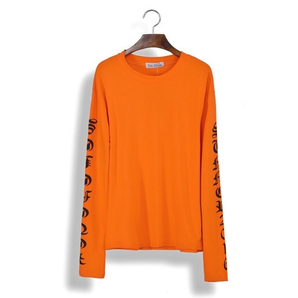 Urban Outfitters - Vetements Orange Long-sleeve shirt from ...