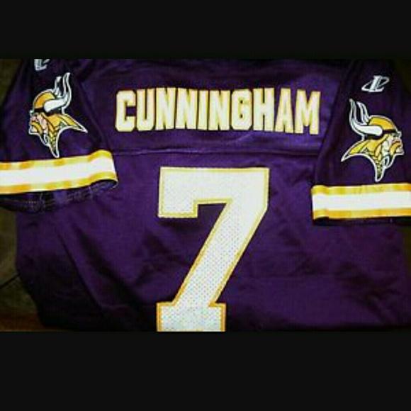 buy popular 01a56 8b924 Randall Cunningham Vikings NFL QB Jersey #7
