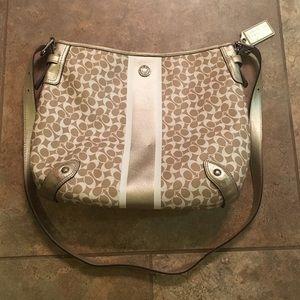 Coach Handbags - Gold Coach Crossbody Purse