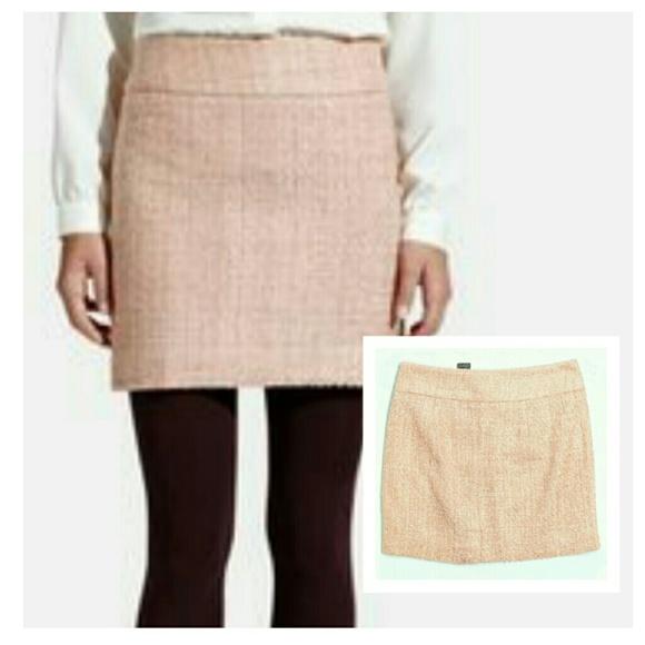 42f15f4391 The Limited Skirts | Tweed Pink Sparkle Mini Skirt 4 | Poshmark