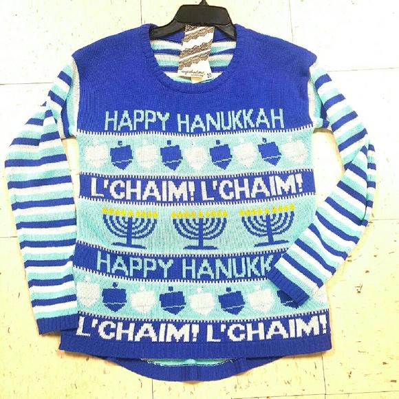 Eyeshadow Sweaters Light Up Happy Hanukkah Ugly Sweater Poshmark